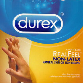 Durex | (Avanti Bare) RealFeel Non-Latex, Condoms - LuckyBloke.com | Global Condom Experts