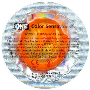 ONE | Color Sensations, Condoms - LuckyBloke.com | Global Condom Experts