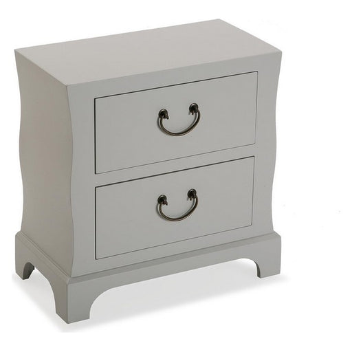 Chest of drawers MDF Wood/Fir wood (25 x 48 x 48 cm) White