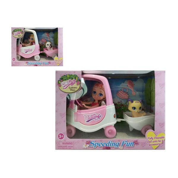 Doll with Pet Speeding Fun 110760
