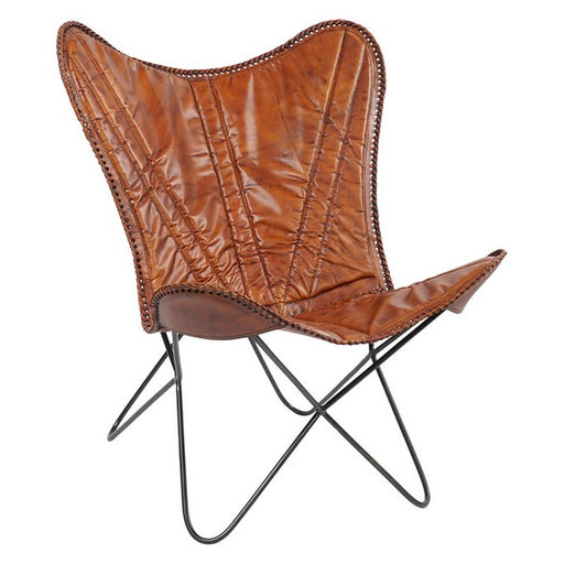 Dining Chair Dekodonia Leather Metal (72 x 76 x 91 cm)