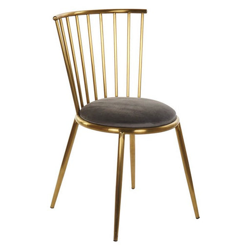 Dining Chair Dekodonia Polyester Metal Steel (48 x 46 x 82 cm)