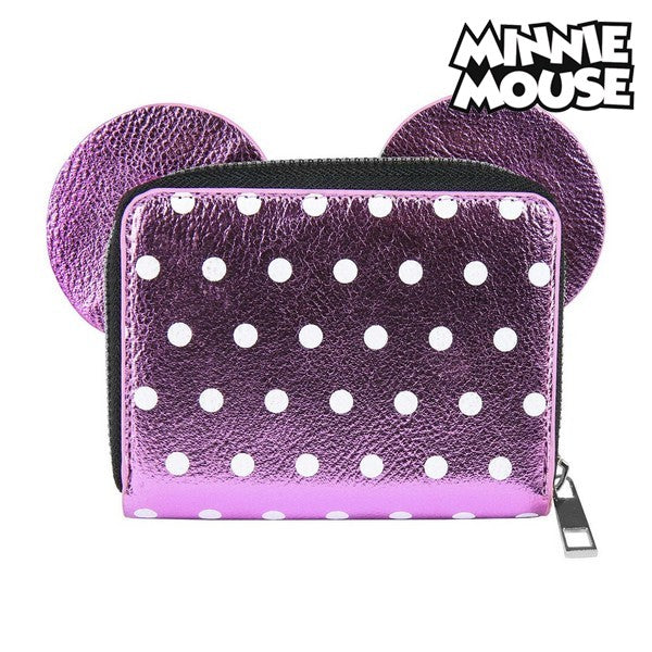 Purse Minnie Mouse Card holder Pink Metallic 70688