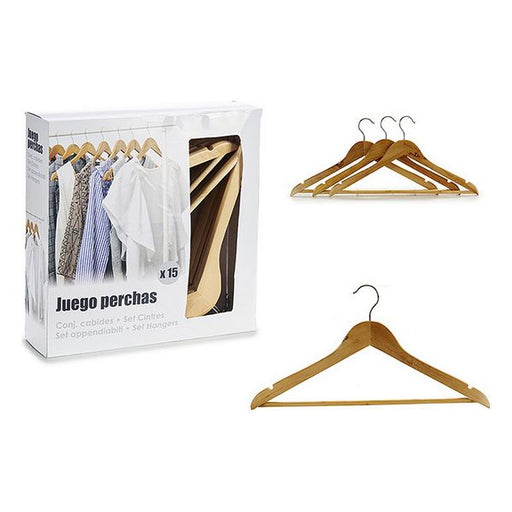 Hangers Wood (15 Pieces) (1 x 21,5 x 45,5 cm)
