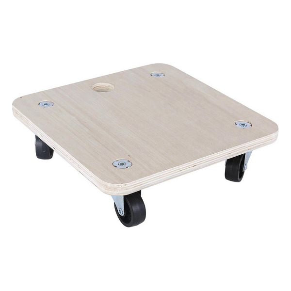 Wooden Base with Wheels Bricotech (30 x 30 x 8 cm)