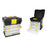 Toolbox with Organisers Bricotech Ravena Black Yellow (34 X 26 x 35,2 cm)
