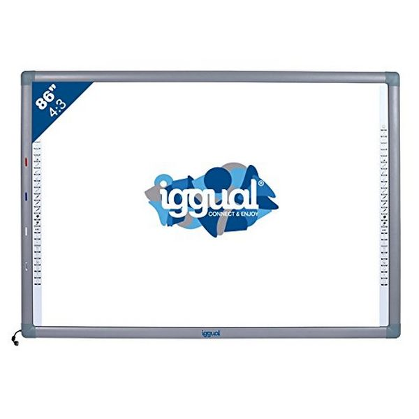 "Interactive Whiteboard iggual IGG314371 86"" 4:3 Infrared"