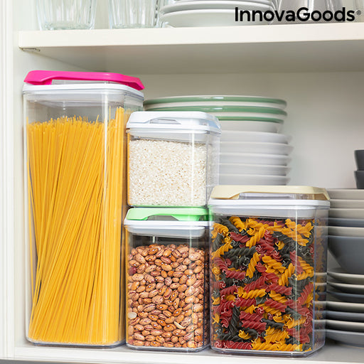 Set of Stackable Hermetically-sealed Kitchen Containers Pilocks InnovaGoods 4 Pieces