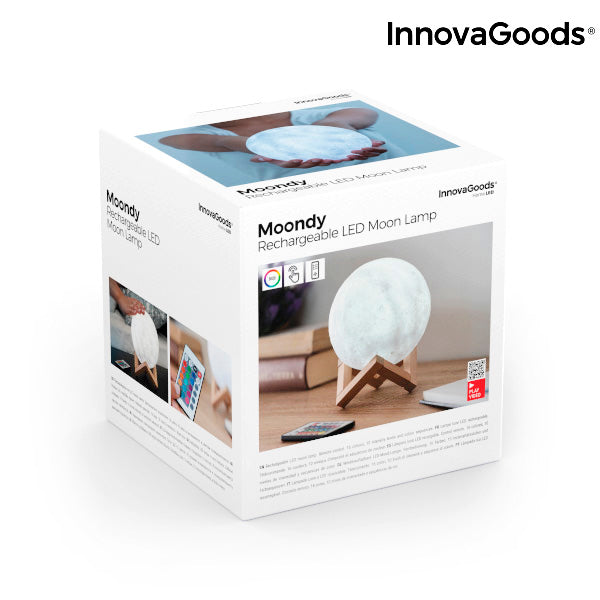 Rechargeable LED Moon Lamp Moondy InnovaGoods