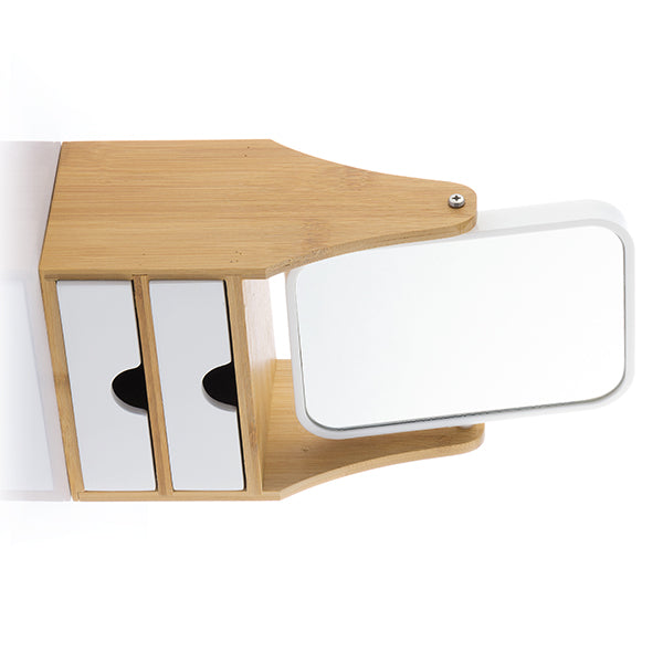 Table-top Mirror with Drawers Bamboo