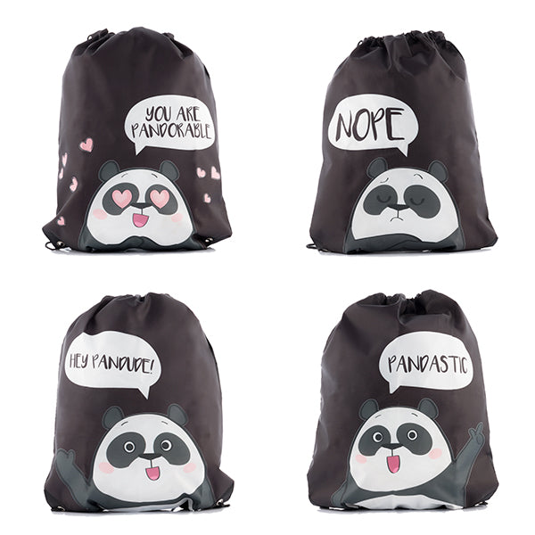 Panda Drawstring Backpack