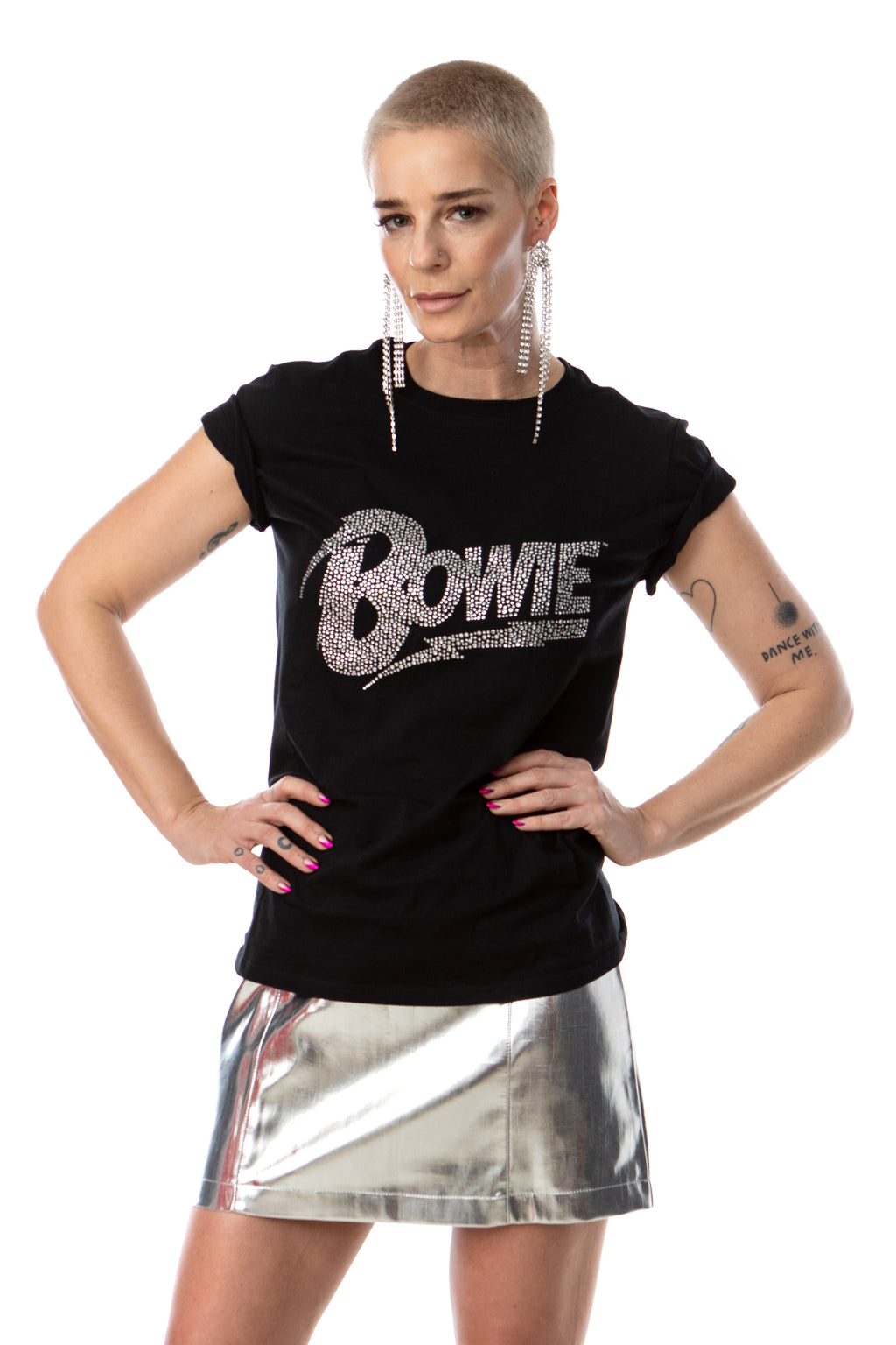 David Bowie Flash Logo tee