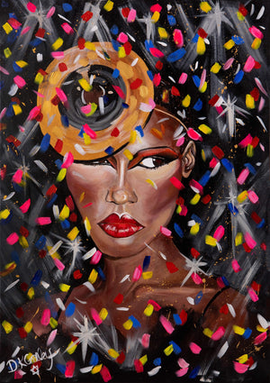 Grace Jones signed Art Print