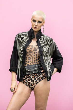 Joanie Studded Chain Jacket.