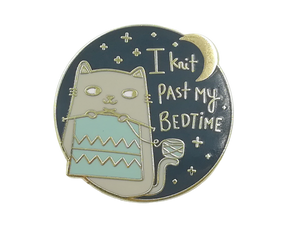 Knit Past Bedtime Pin