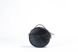 Circle Bag Marcello Crocodile Printed Leather