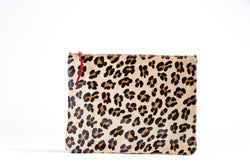 Pochette Jean-Louis Animal Print Pony Hair Leather