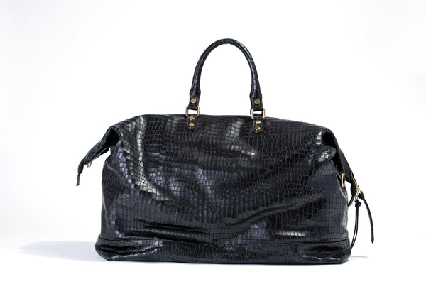 Weekender Vittorio Embossed Crocodile Print Leather