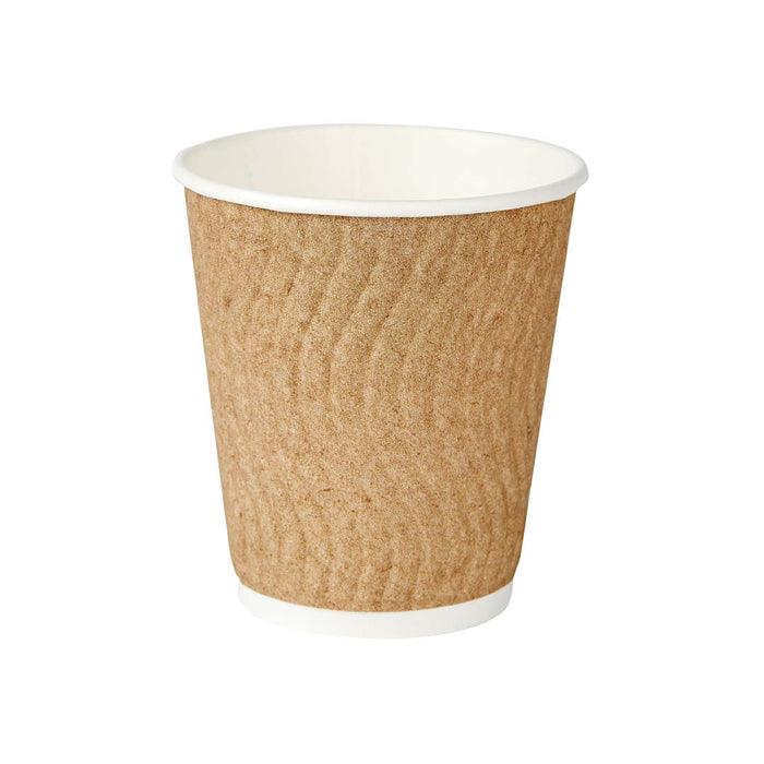 Vaso Papel Doble Capa Kraft Para Cafe Largo 270 Ml