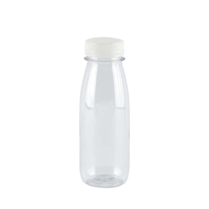 Botella Pet Transparente Con Tapon 200 Ml