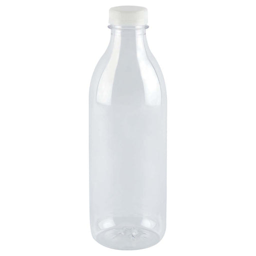 Botella Pet Transparente Con Tapon 1000 Ml