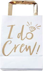 Partytüte I Do Crew gold weiß - 5er Pack