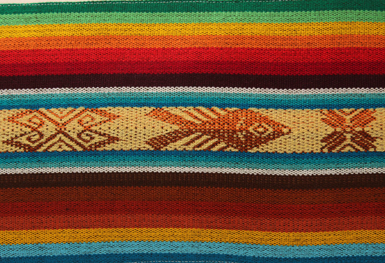 El Mar Pillow Collection: Multi-Color Stripes with Fish and Red Tassels