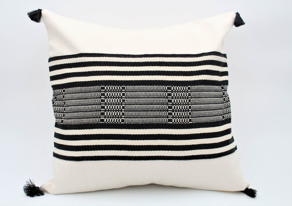 The Bogotá Pillow Collection: Square with Black