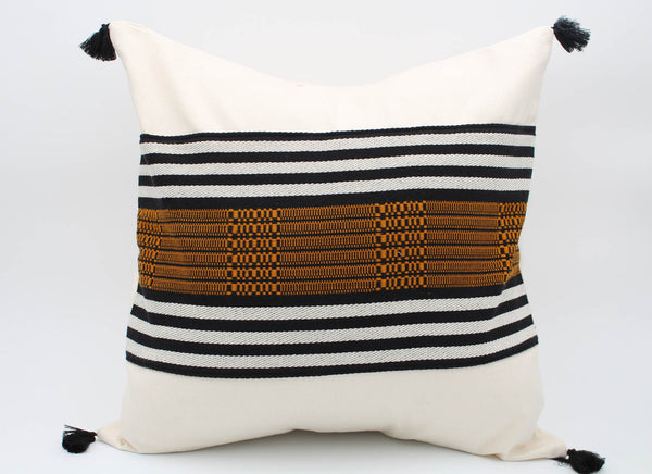 The Bogotá Pillow Collection: Square with Brown