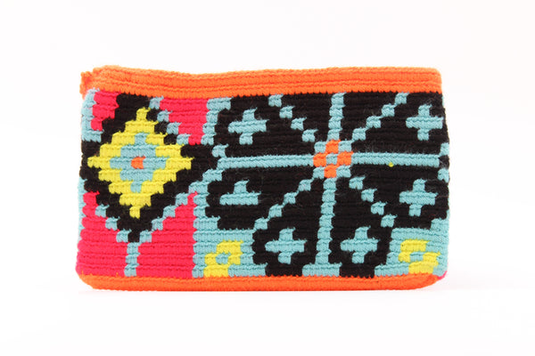 Diamantes y Flores Small Wayuu Wallet