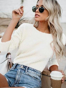 Long Sleeve Sweater Jumper Pullover Tops