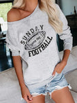 Football Print Sweatshirt