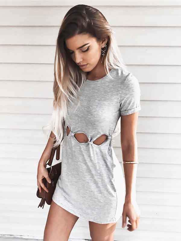 Summer Sexy Buttock Short Sleeve Dresses