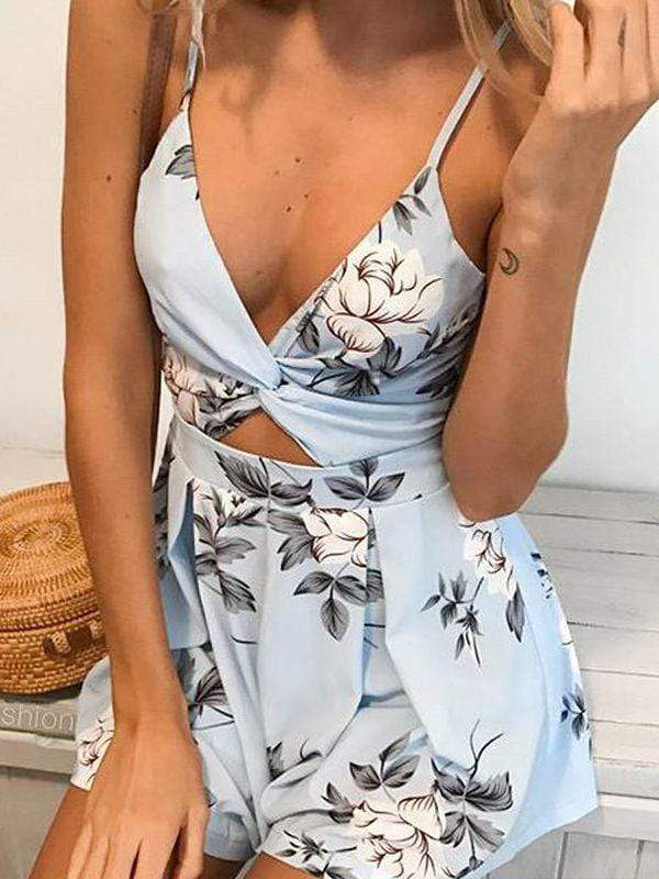 Bow Backless Knot Jumpsuits