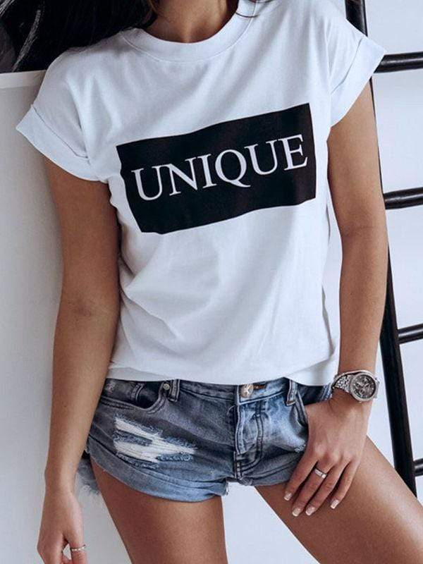 UNIQUE Color Block Short Sleeve Tee