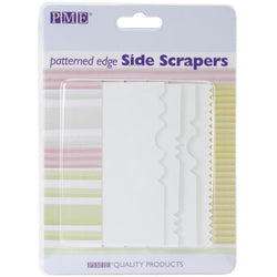 PME Patterned Edge Plastic Side Scraper Set 4/Pkg - aplusstorenz