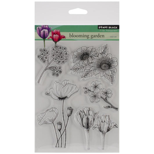 Penny Black Clear Stamps Blooming Garden - aplusstorenz
