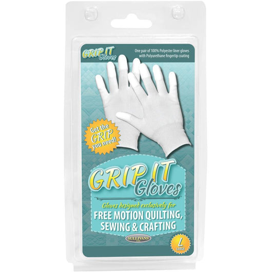 Sullivans Grip Gloves For Free Motion Quilting Large