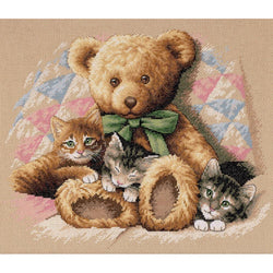 CUTE KITTEN CAT AND BIRD PAL FLOATING AWAY WITH BALLOON CROSS STITCH CHART
