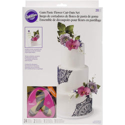 Wilton Gum Paste Outs Piece 28 PC GP FLOWERS CUT OUT SET - aplusstorenz