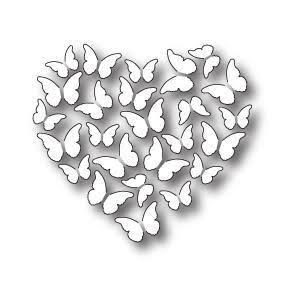 Memory Box Die Butterfly Heart
