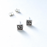 Sterling Silver Square Stud Earrings