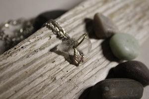Beach Glass Necklace - Maple Leaf