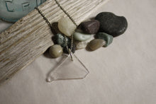 Load image into Gallery viewer, Beach Glass Necklace - Clear Triangle