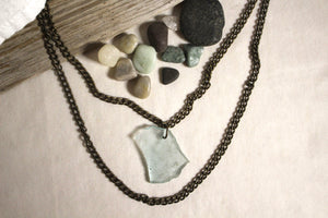 Beach Glass Necklace - Doubled Up
