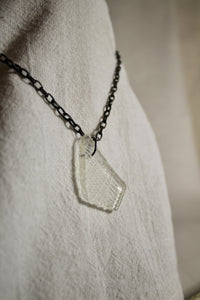 Beach Glass Necklace - Cross Hatched