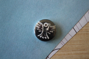 Button - B&W Bird
