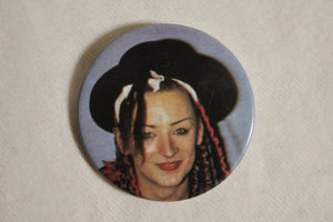 Retro Button - Boy George Blue 2.25""