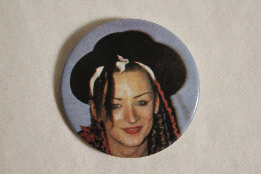 Retro Button - Boy George Blue 2.25
