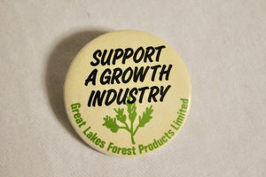 Retro Button - Growth industry